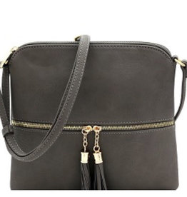 Grey Tassel Accent Cross Body