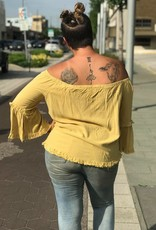 Honey Yellow Off The Shoulder Top