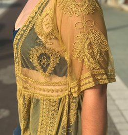 Golden Kiwi Lace Kimono