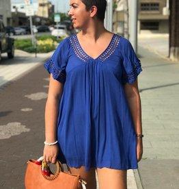 Royal Blue Babydolll Dress