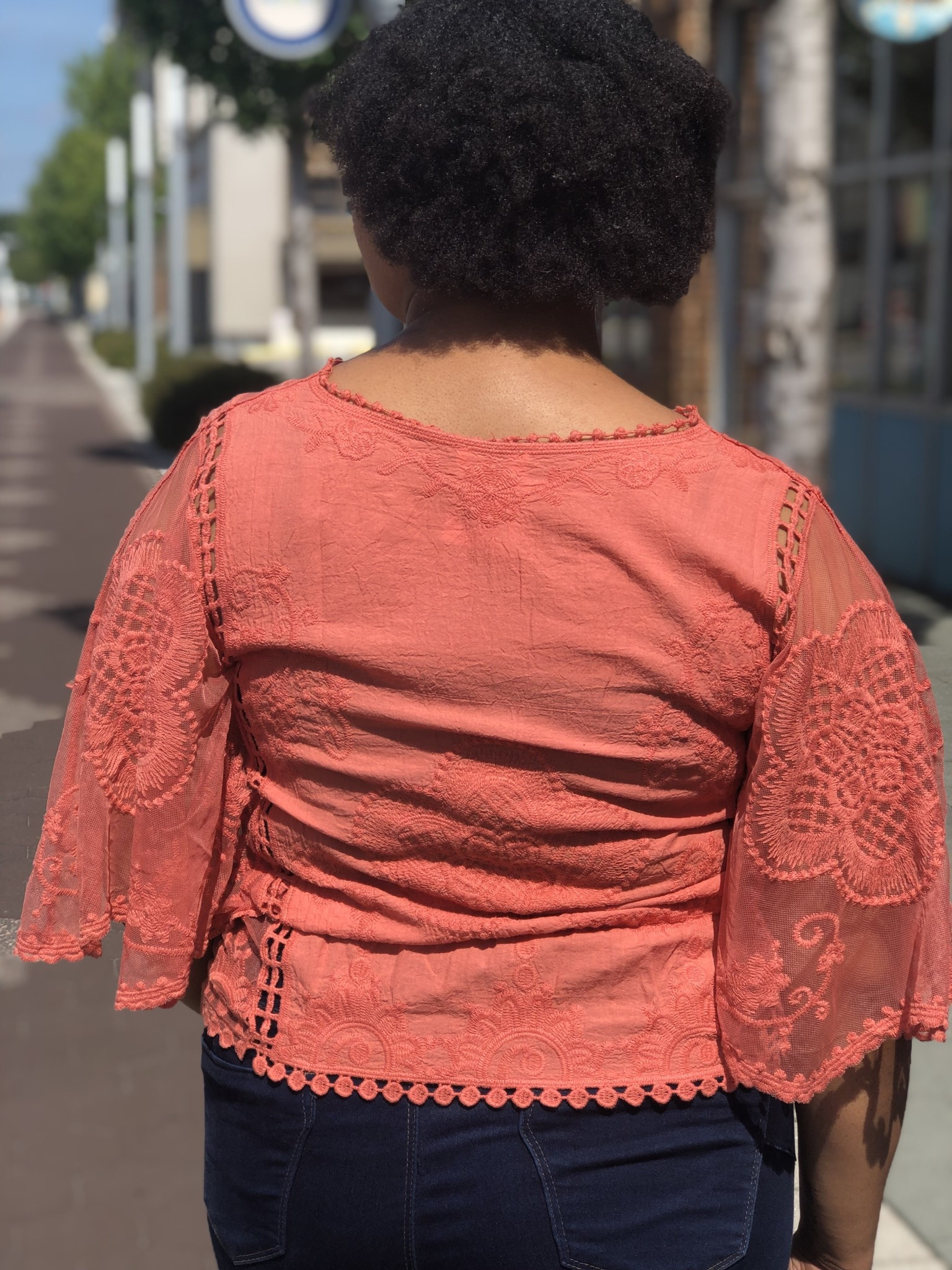 Sunset Bell Sleeve Lace Top