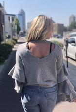 Grey Sleeve Detail Sweater