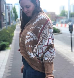 Printed Knit Cardigan