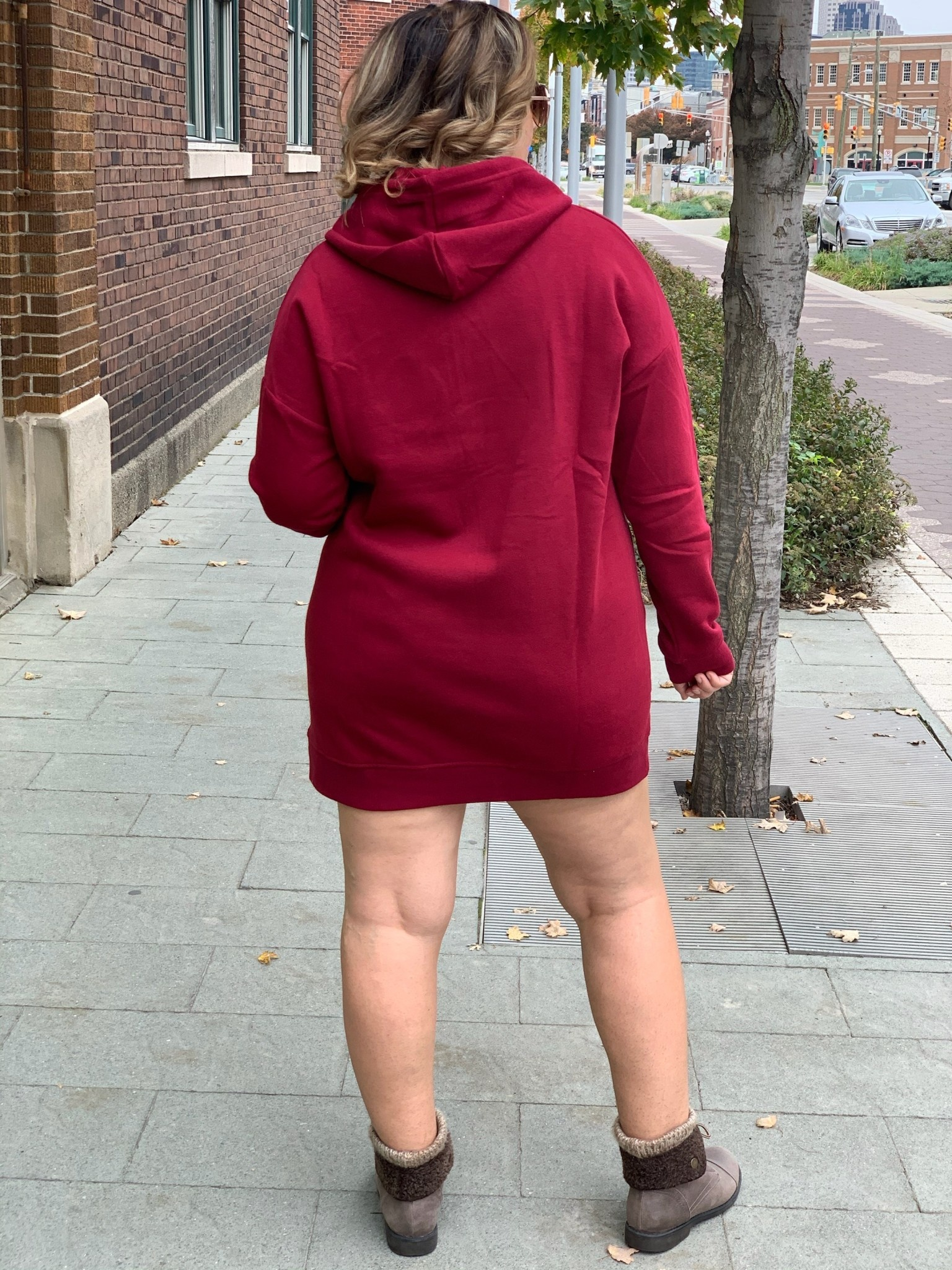 Cabernet Tunic Hooded Sweatshirt