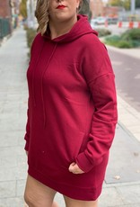 Cabernet Tunic Hooded Sweatshirt
