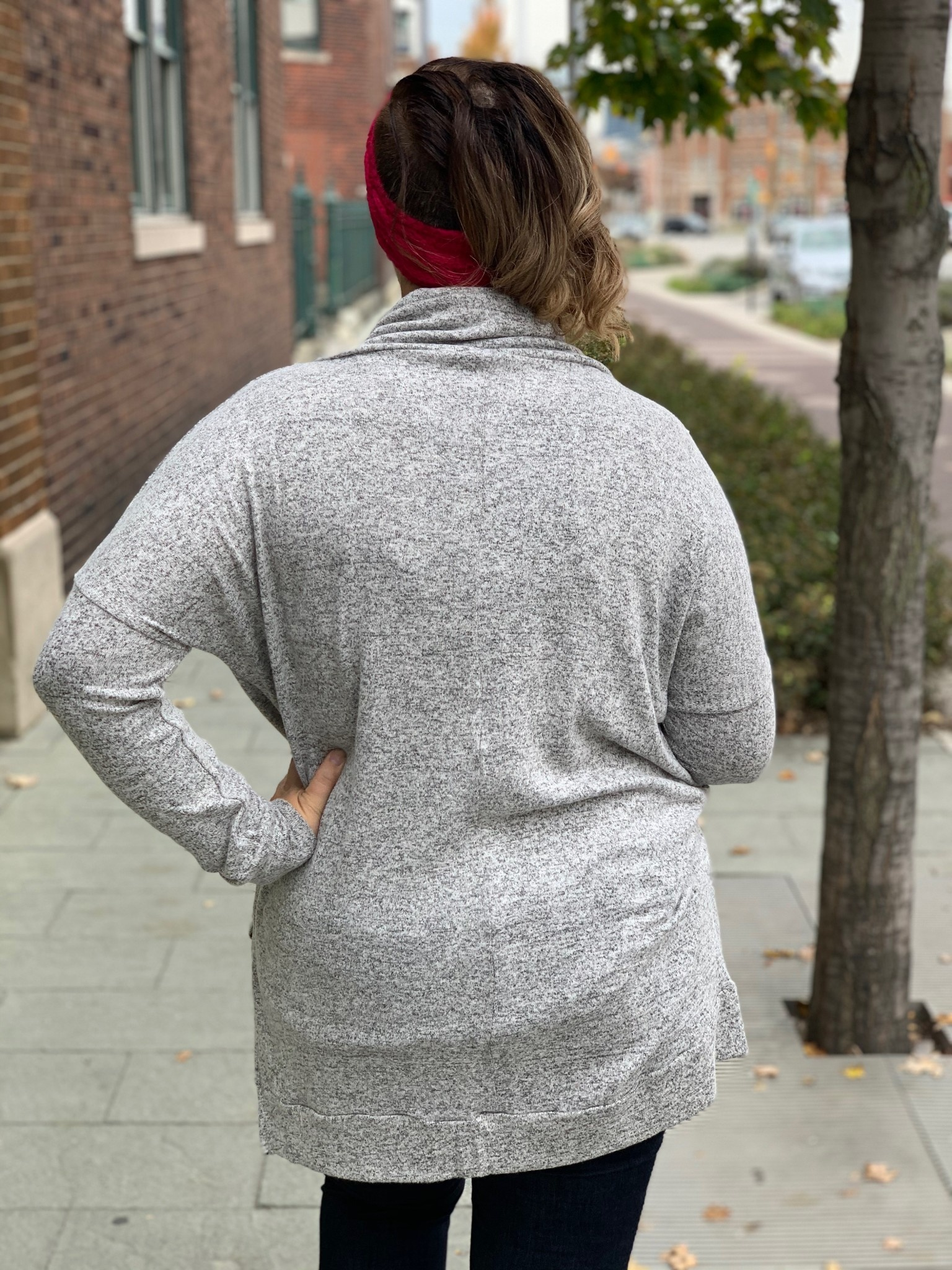 Funnel Neck Lightweight Pullover