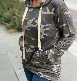 Lightweight Camo Hooded Pullover