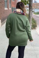 Army Green Tunic Sweatshirt