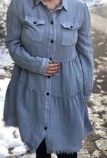 Lt. Denim Ruffle Dress