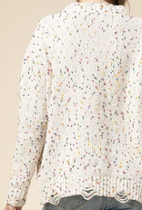 Speckled Cream Sweater