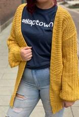 Large Knit Mustard Cardigan