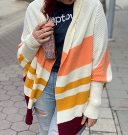 Knit Striped Cardigan
