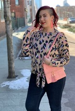 Knotted Leopard Top