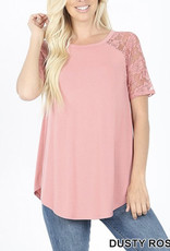 Rose Lace Detail Tee