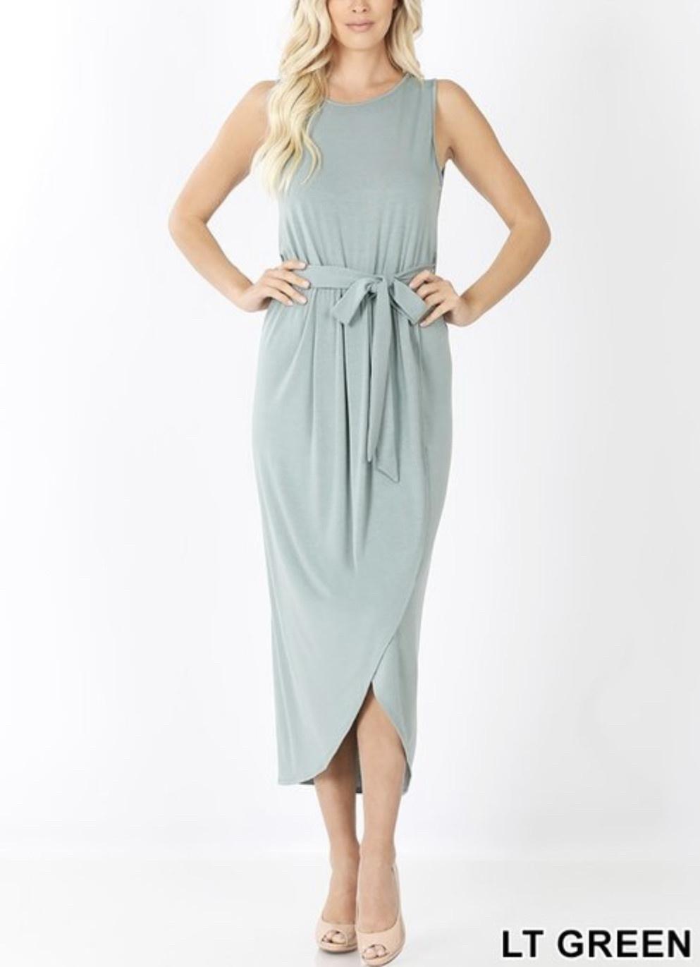Light Green Tulip Dress
