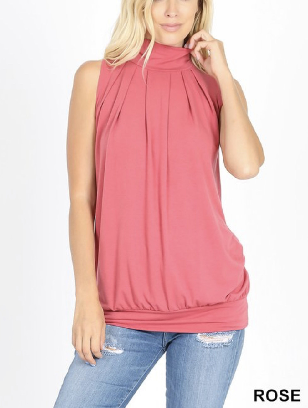 Rose High Neck Tank