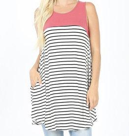 Striped Tee w/ Pockets