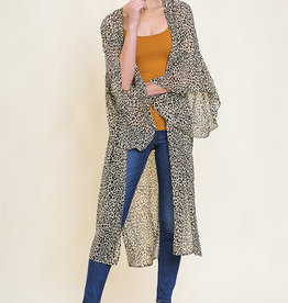 Sheer Leopard Kimono