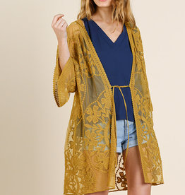 Golden Lace Kimono