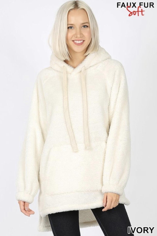 Cream Fluffy Pullover