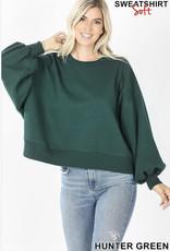 Cropped Hunter Green Sweatshirt