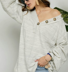 Natalie's Oversized Puff Sleeve Top