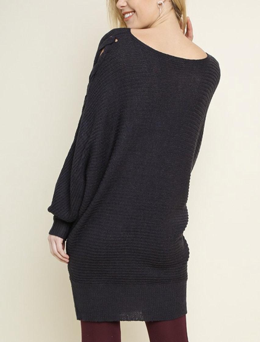 Long Navy Sweater