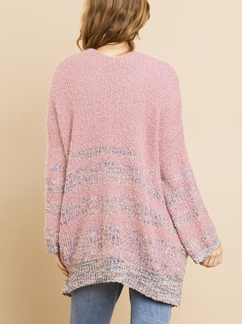 Pink Speckled Cardigan