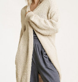 Pocketed Cream Cardigan