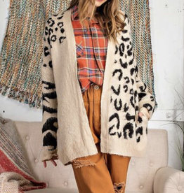 Megan's Fuzzy Leopard Cardigan