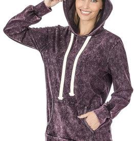 Purple Mineral Wash Hoodie