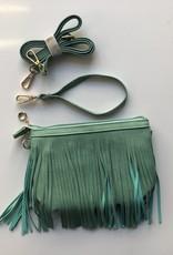 Sage Fringe Crossbody Bag