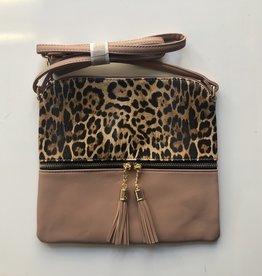 Leopard/Mauve Crossbody Bag