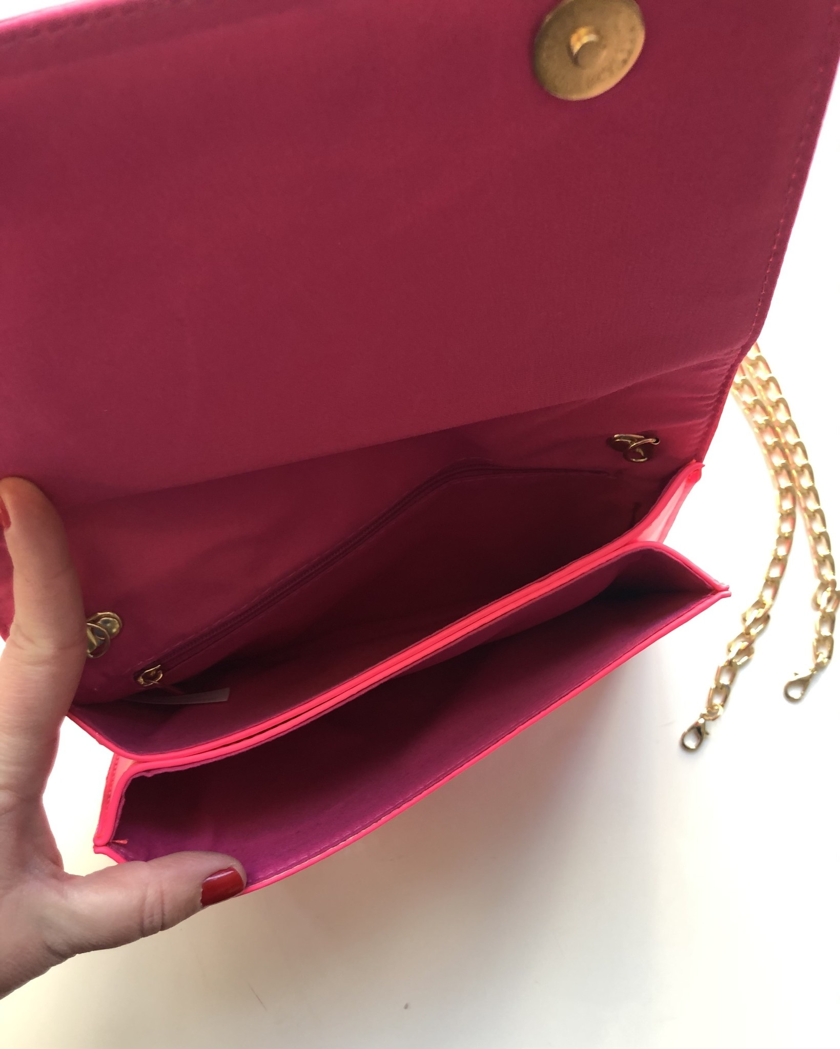 Hot Pink Knotted Bow Clutch