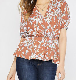 Ginger Floral Peplum Blouse