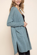 Ribbed Lightweight Cardigan