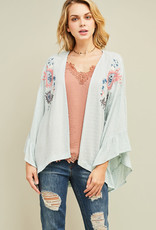 Embroidered Mint Coverup