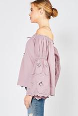Off The Shoulder Purple Top