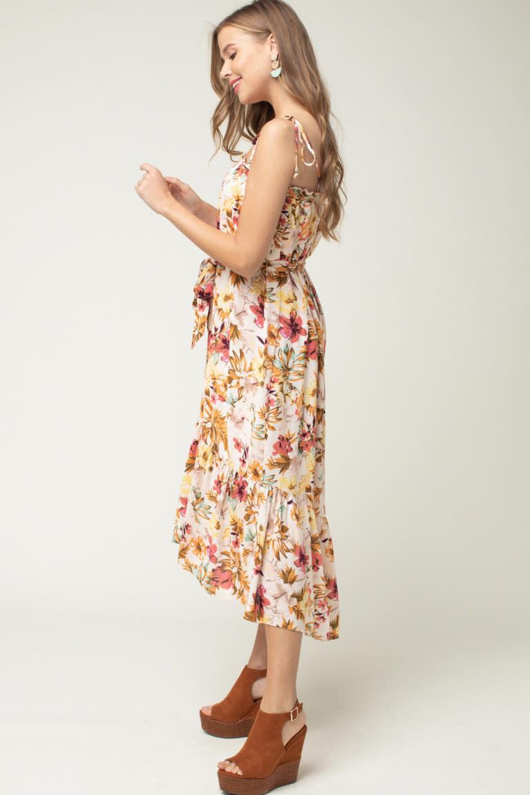 Tied Strap Maxi Dress