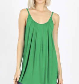 Kelly Green Pleated Cami