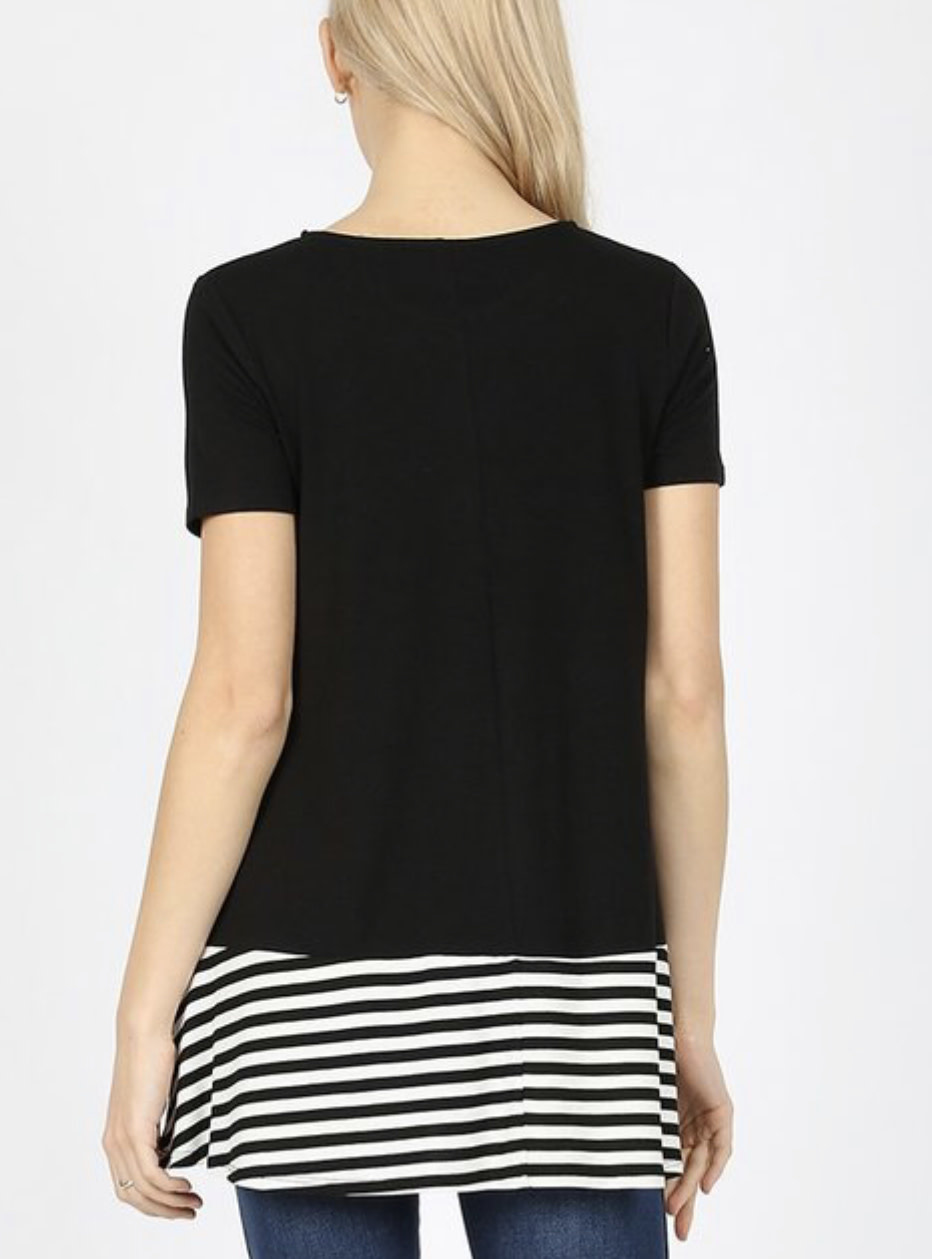 Contrast Pocketed Tee