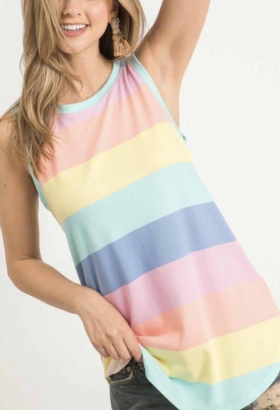 Super Soft Rainbow Tank