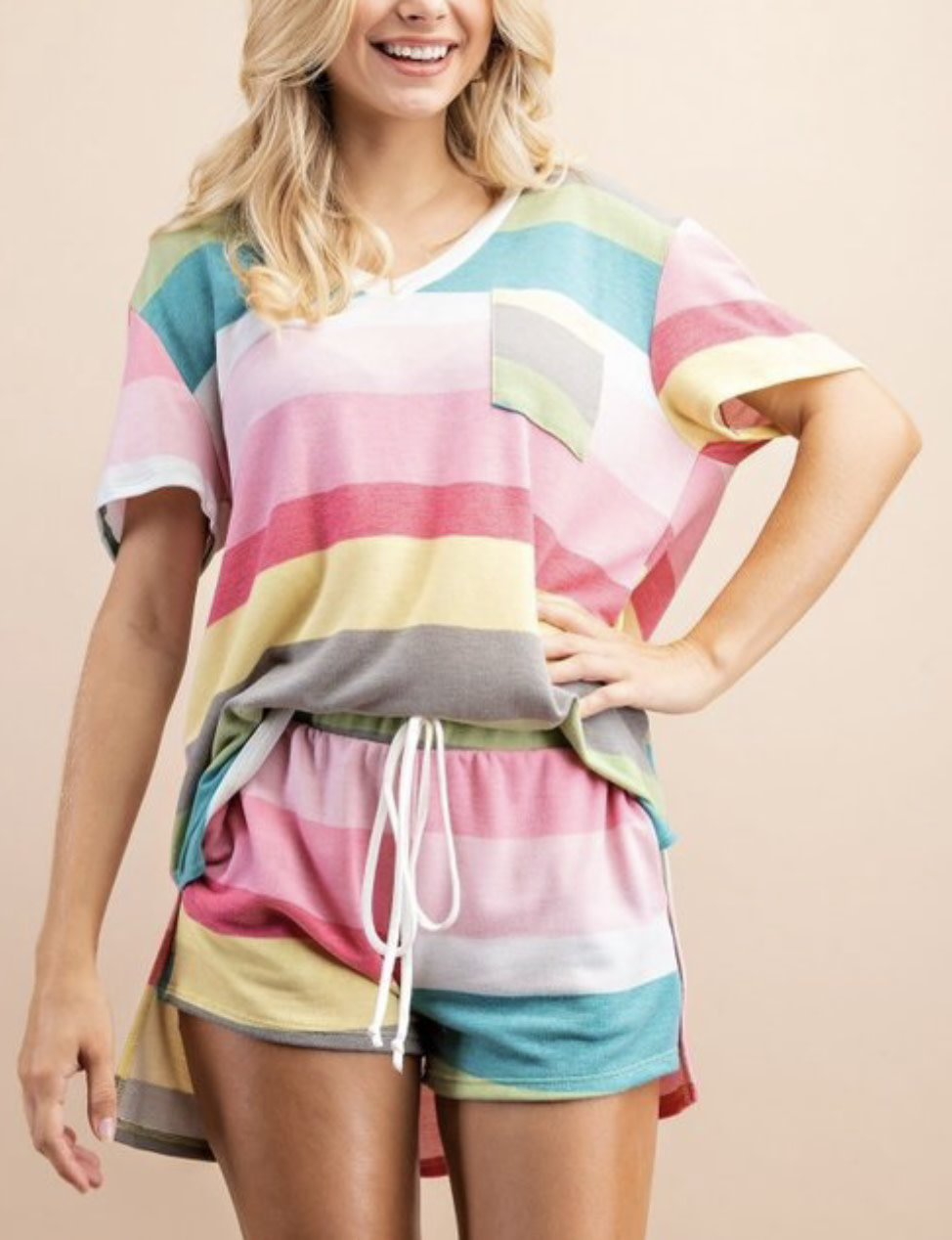Colorful Striped Tee