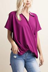 Magenta Collared Shirt