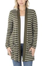 Lightweight Striped Cardigan