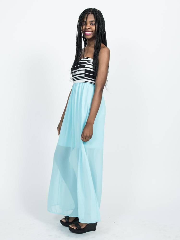 Black Chiffon Maxi Dresses