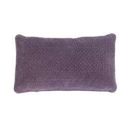 Purple Quilted Throw Pillow