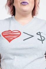 Love Over Money Unisex Felicia Tees