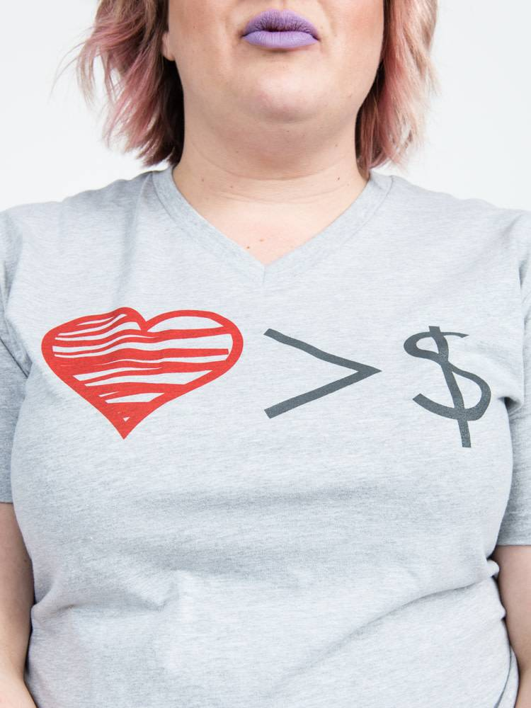 Love Over Money Unisex Felicia Tees