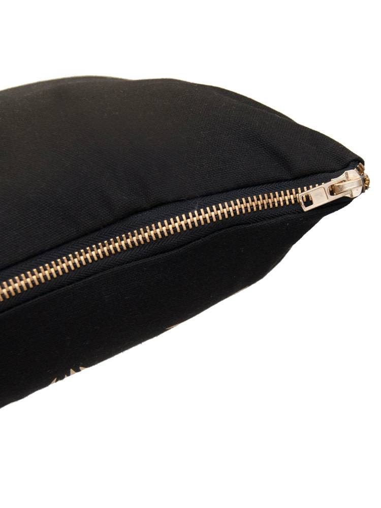 Black Pillow w/ Gold Metallic Arrows